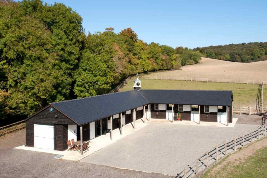 Six Stables Feed Room Wash Bay And Hay Store