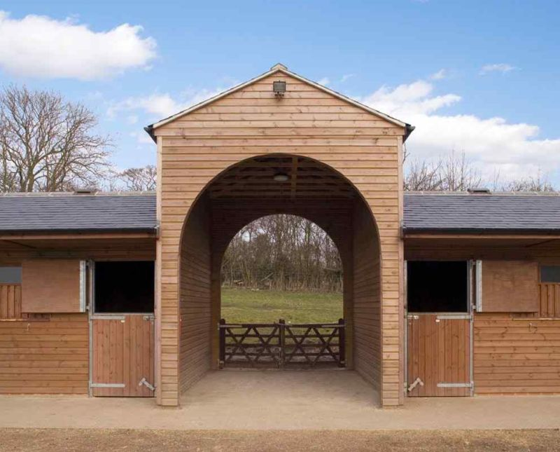 U Shaped Stables With Archway Entrance