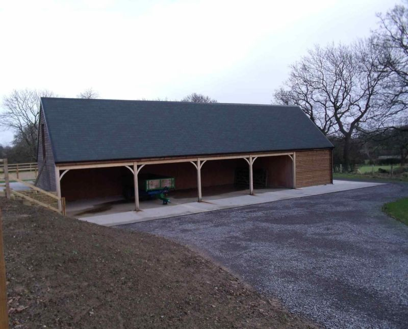 Four Bay Timber Garage Block With Room Above North Yorkshire