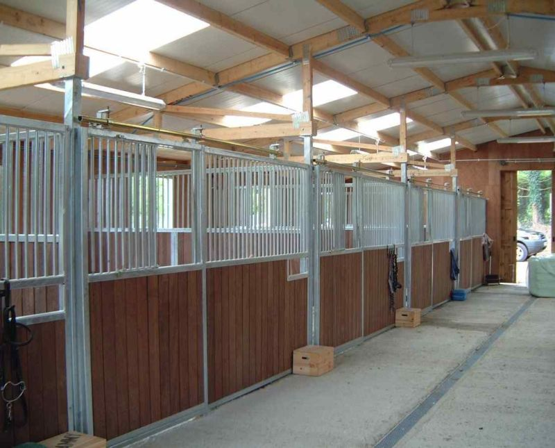 Barn With Five Stalls Feed Room Open Wash Area And Rest Room