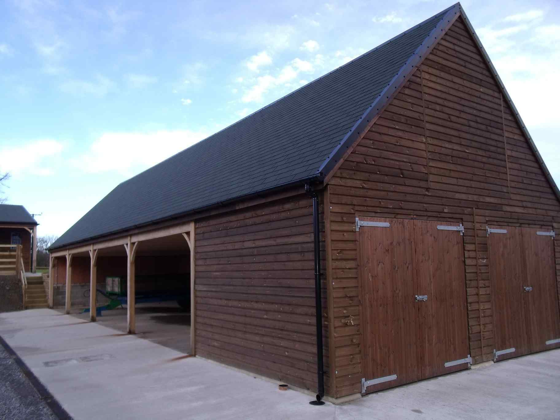 Four bay timber garage block with room above north yorkshire for Garage block