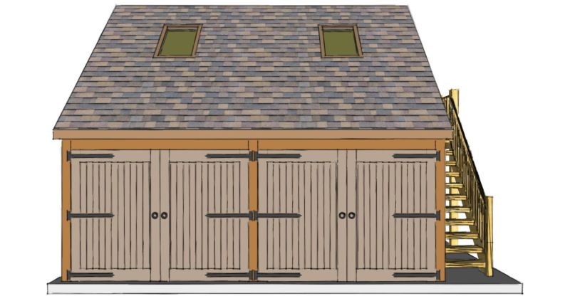 Two bay garage with room above the stable company for 2 bay garage plans