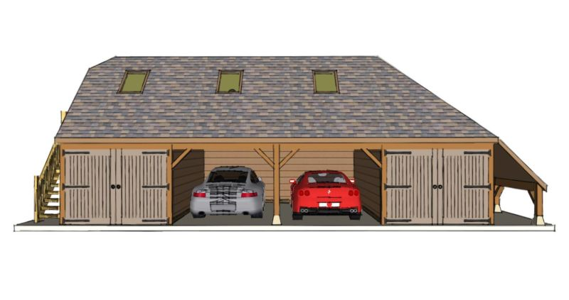 Four bay garage with room above the stable company for 4 bay garage plans
