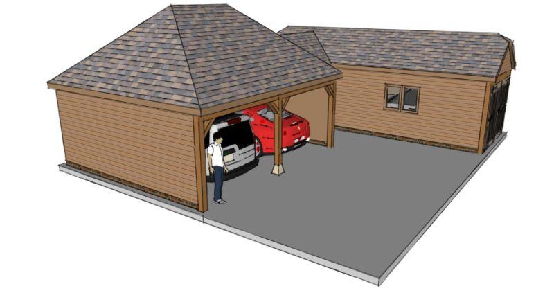 L Shaped Garage Scheme
