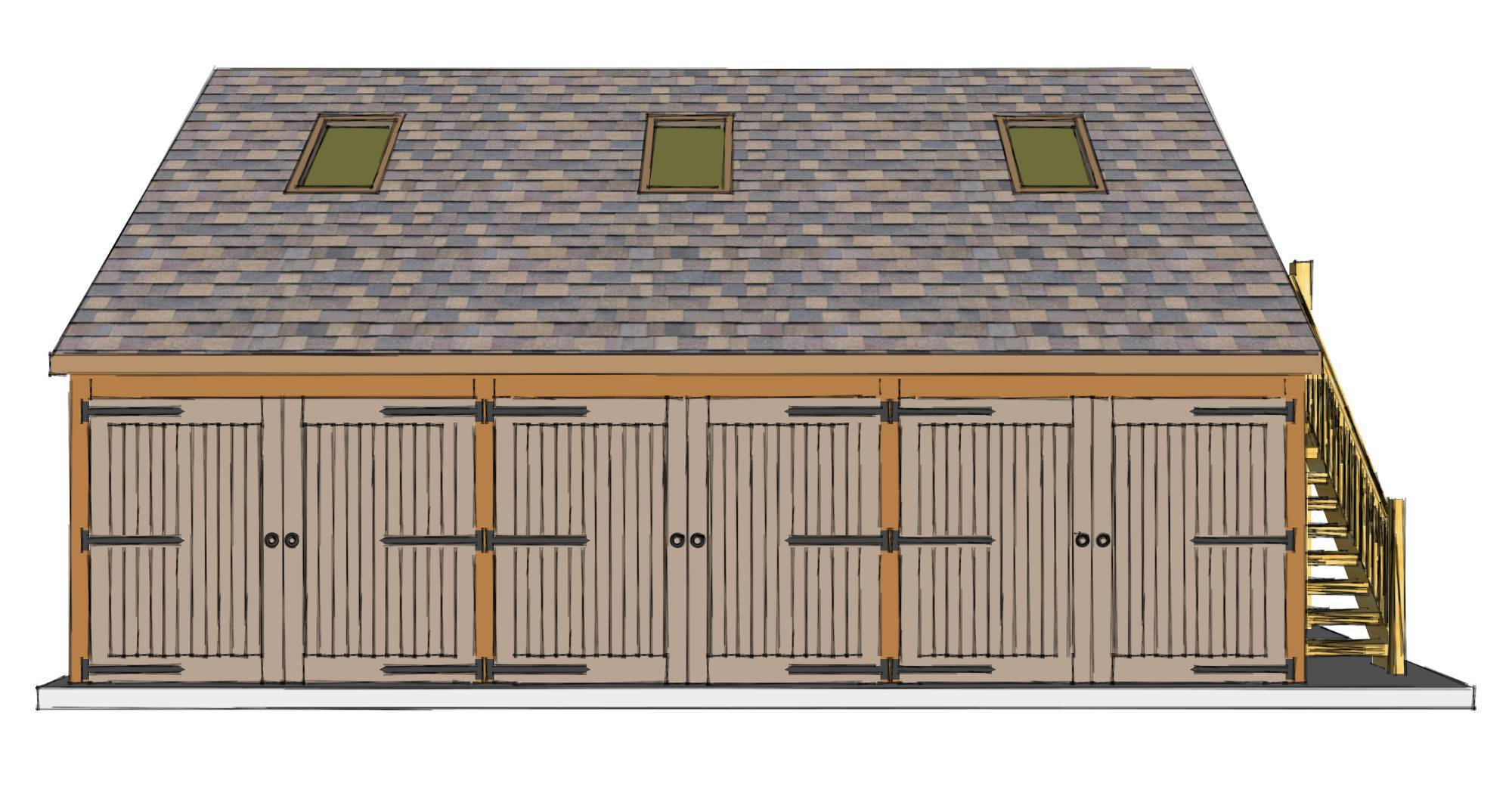 Three Bay Garage With Room Above The Stable Company