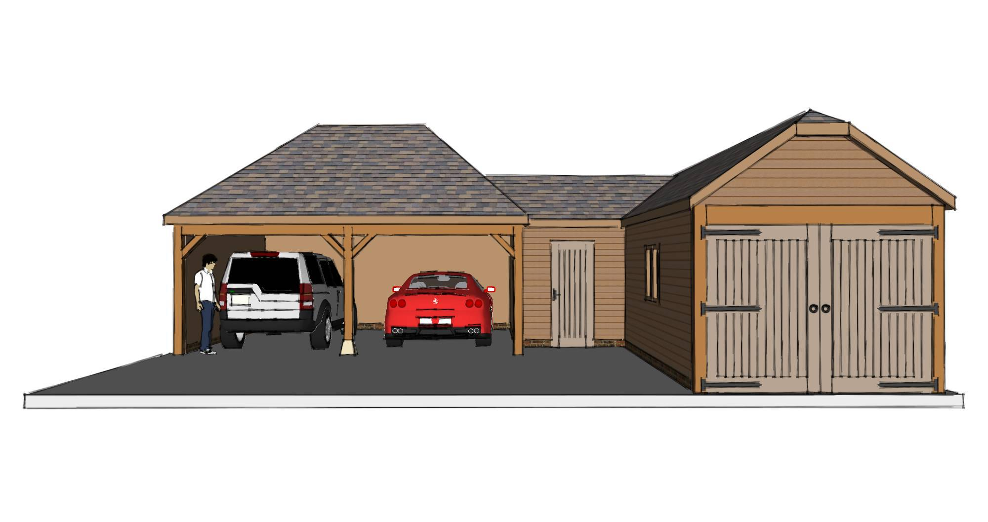 l shaped garage scheme the stable company 1