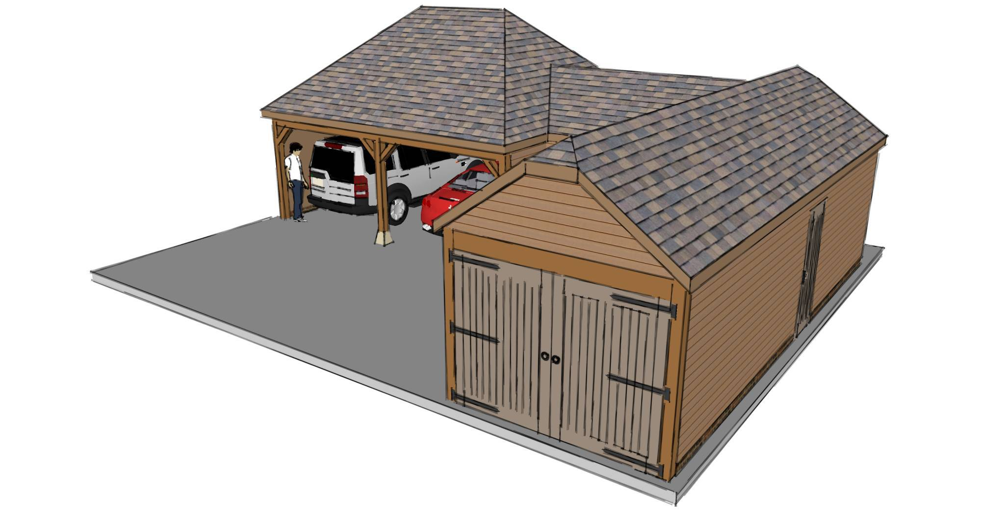 L shaped garage scheme the stable company for Barn shaped garage