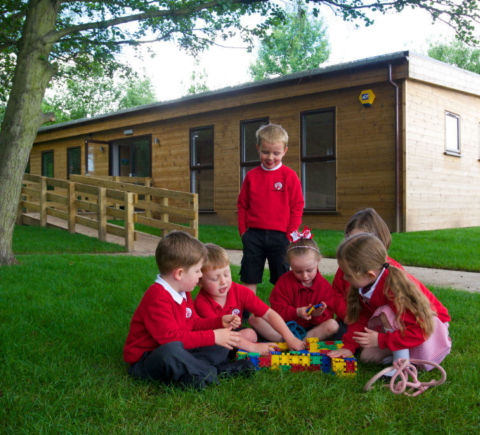 Outdoor classroom at Amberwood school