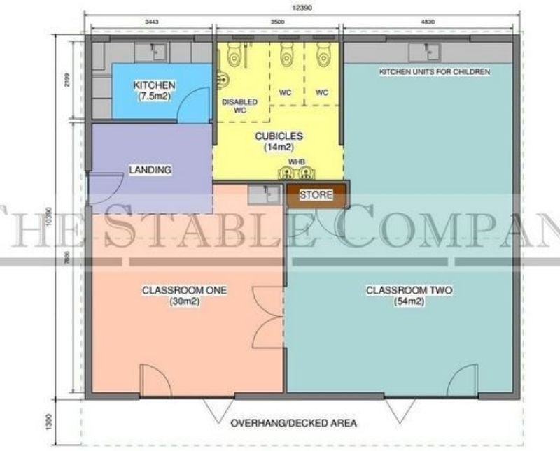 Outdoor Classroom Design Plans ~ Double outdoor classroom kitchen cubicles wash room