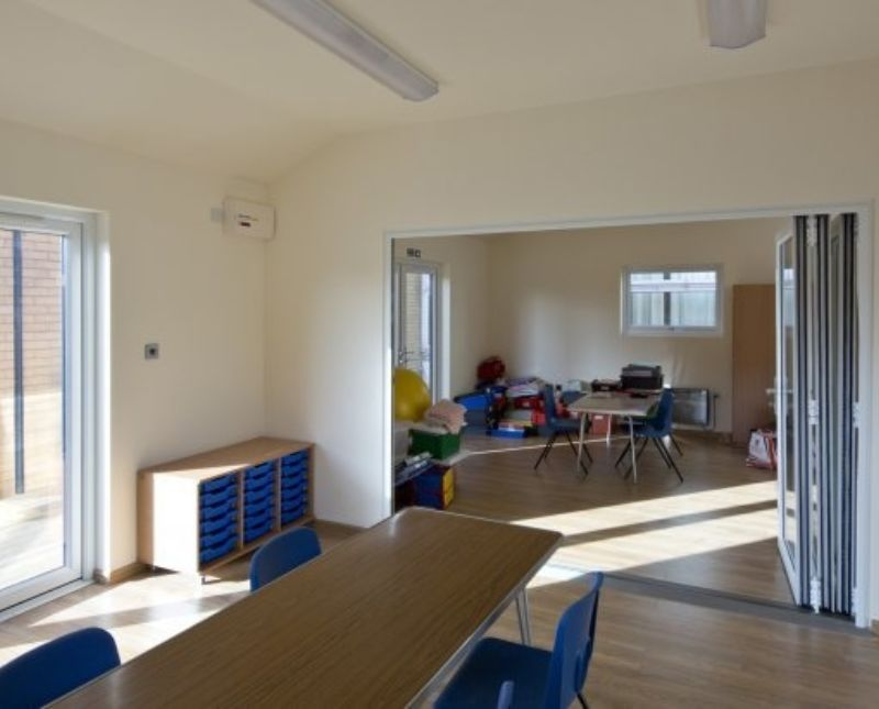 Double Outdoors Classroom With Dividing Internal Wall Kent