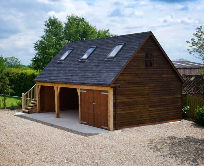 Bespoke timber framed outbuilding