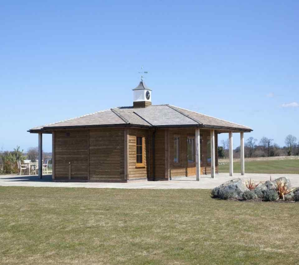 Timber golf lodge
