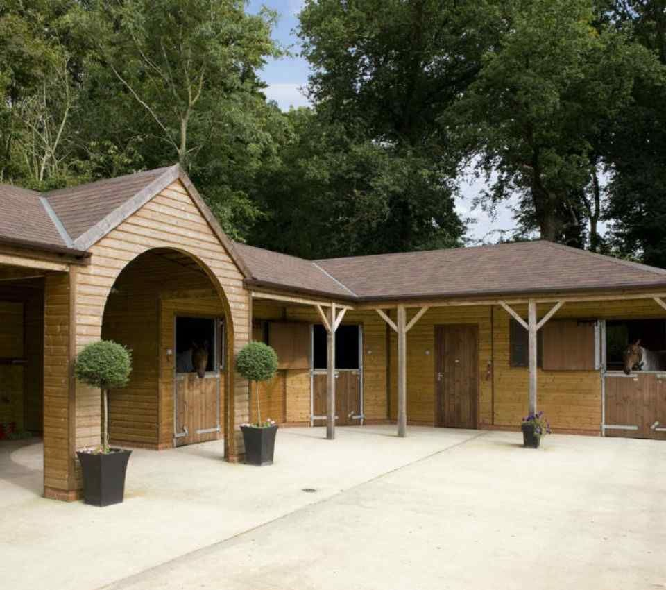 A bespoke timber stable