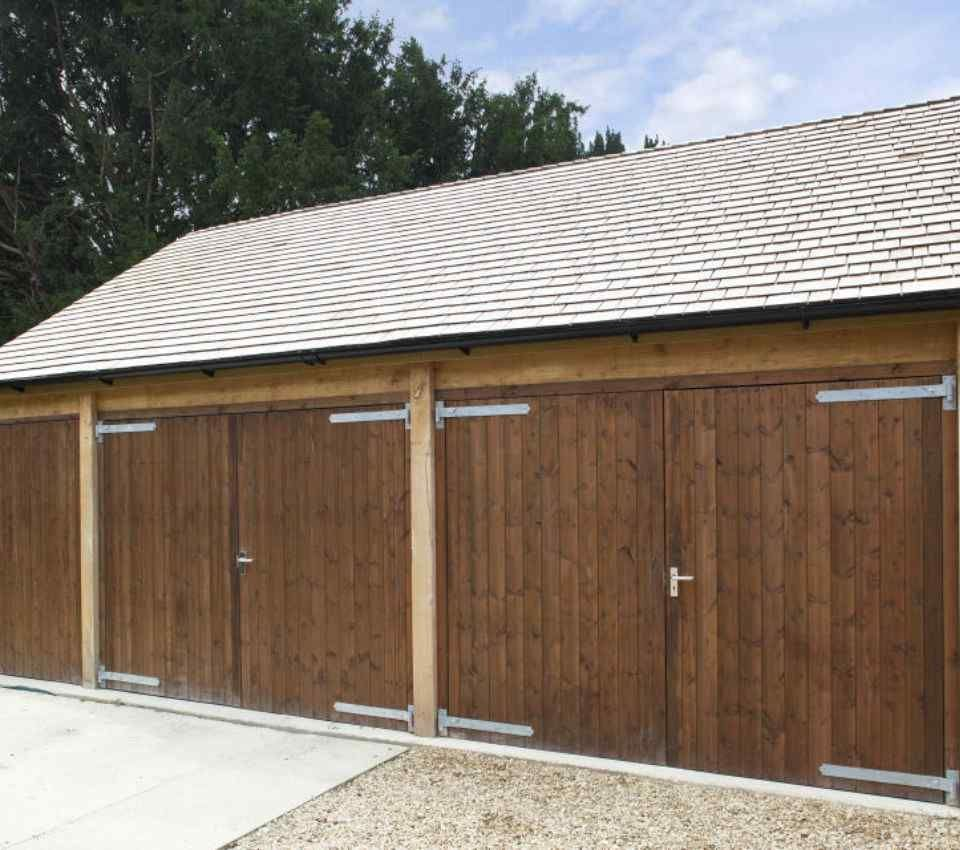 Single story timber garage