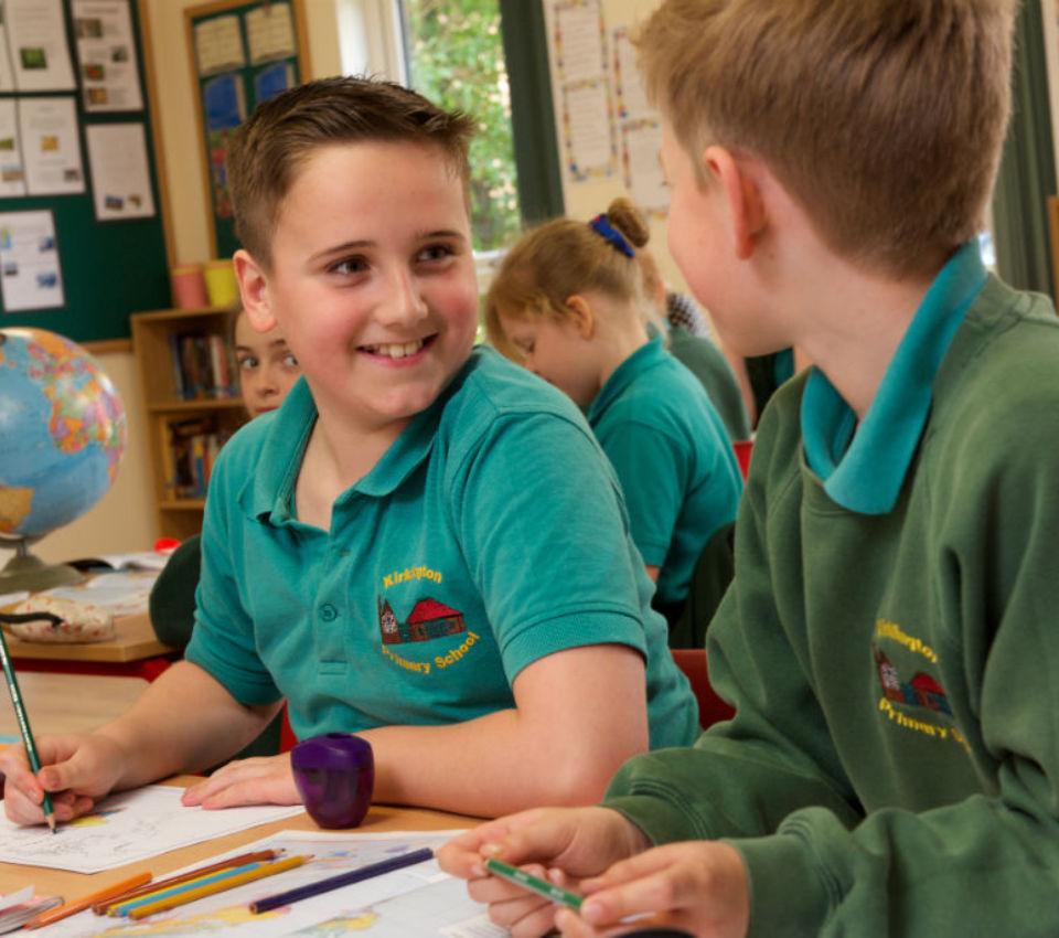 Inside an outdoor classroom