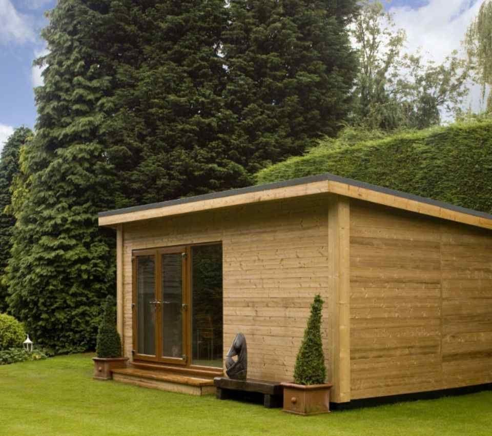 Bespoke eco garden room