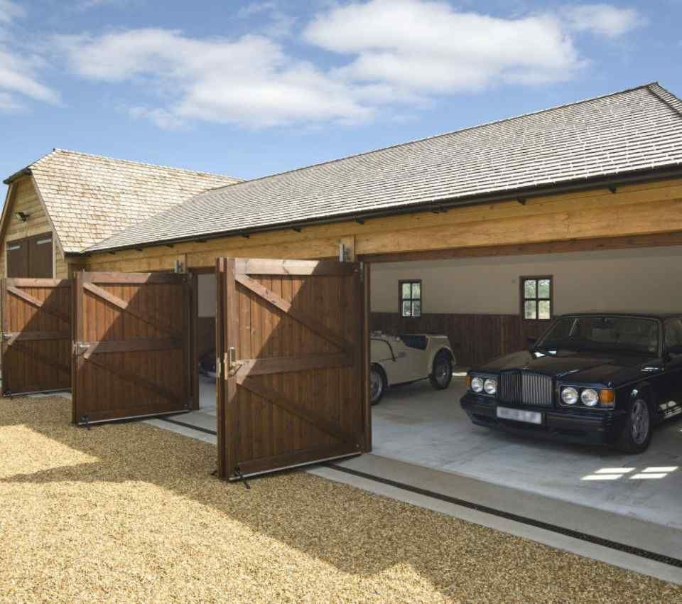 Bespoke timber framed garage
